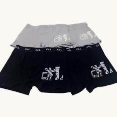ราคา C L กางเกงชั้นในชายขาสั้น R1 สีเทา สีกรม 4ตัว Set ถูก