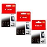 Canon ตลับหมึกอิงค์เจ็ท รุ่น Pg 810 Bk 3 ตลับ สีดำ ของแท้ Canon Ip2770 Ip2772 Mp237 Mp245 Mp258 Mp268 Mp276 Mp287 Mp486 Mp496 Mp497 Mx328 Mx338 Mx347 Mx357 Mx366 Mx416 Mx426 ไทย