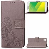 ส่วนลด Card Slot Retro Embossing Clover Flower Pu Leather Wallet Cover Folio Flip Fold Magnetic Closure Lanyard Case Cover For Oppo A37 A37M Unbranded Generic