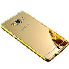 ขาย เคส Case Samsung J2 เคสกระจก ซัมซุง Samsung J2 New Bumper Mirror Case 2 In 1 Gold 18K 24K Aluminium Miror ขอบอลูมิเนียม ใหม่ สีทอง Case เป็นต้นฉบับ