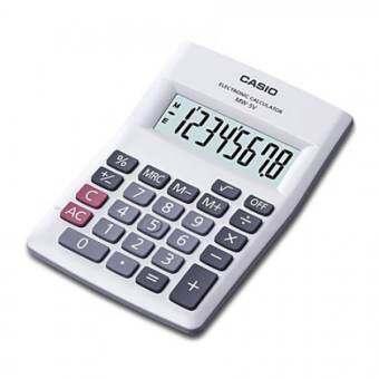Casio เครื่องคิดเลข ตั้งโต๊ะ รุ่น MW-5V-WE (White)