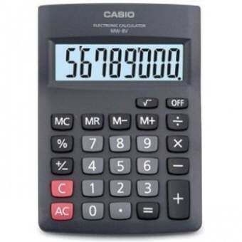 Casio เครื่องคิดเลข ตั้งโต๊ะ รุ่น MW-8V  (Black)