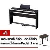โปรโมชั่น Casio เปียโนไฟฟ้า Digital Piano Px 160 Bk Stand Stand Sustain Pedal Sp 33C2 Adapter สีดำ ประกันCmg 1 ปี ถูก