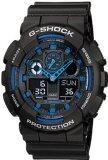 ขาย Casio G Shock นาฬิกาข้อมือผู้ชาย สีดำ น้ำเงิน สายเรซิน รุ่น Ga 100 1A2 ออนไลน์ บุรีรัมย์
