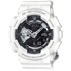 ราคา Casio G Shock Mini นาฬิกาข้อมือผู้หญิง สีขาว สายเรซิ่น รุ่น Gmas110Cw 7A1 เป็นต้นฉบับ