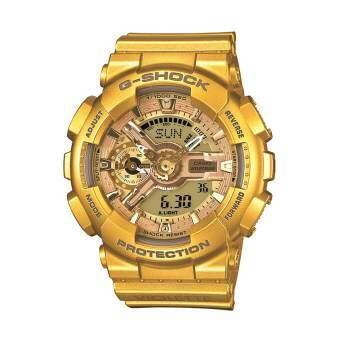 นาฬิกา รุ่น Casio G-Shock Mini นาฬิกาข้อมือผู้หญิง สีทอง สายเรซิ่น รุ่น GMAS110VK-9 จากร้าน MIN WATCH