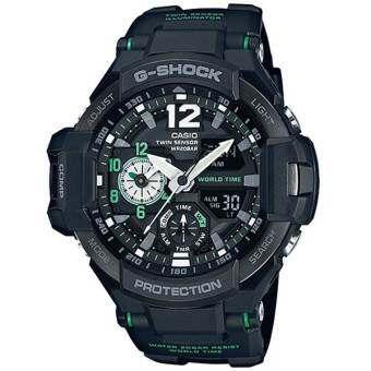 นาฬิกา รุ่น Casio G-Shock นาฬิกาข้อมือผู้ชาย สีดำ/เขียว สายเรซิ่น รุ่น GA-1100-1A3 จากร้าน MIN WATCH