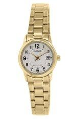 ขาย Casio นาฬิกาข้อมือผู้หญิง สีทอง หน้าปัดขาว สายสแตนเลส รุ่น Ltp V002G 7Budf ออนไลน์ ใน ไทย