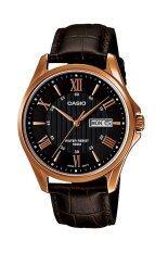 ราคา นาฬิกา Casio สีดำ สายหนัง รุ่น Mtp 1384L 1 Casio เป็นต้นฉบับ