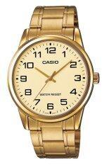 ซื้อ Casio นาฬิกาข้อมือผู้ชาย สีทอง สายสแตนเลส รุ่น Mtp V001G 9Budf ถูก ใน Thailand