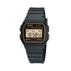 ราคา Casio นาฬิกา ข้อมือผู้ชาย สายเรซิ่น สีดำ รุ่น F 91Wg 9 Brown Casio เป็นต้นฉบับ