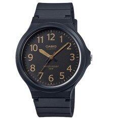 โปรโมชั่น Casio นาฬิกาข้อมือ Casio สายยางสีดำ หน้าปัดดำ เรือนใหญ๋ รุ่น Mw 240 1B2Vdf ฺblack Casio ใหม่ล่าสุด
