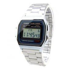 ซื้อ Casio นาฬิกาข้อมือชาย A158Wa 1Df สีดำ เงิน ใน กรุงเทพมหานคร