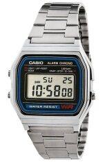 ขาย Casio นาฬิกาข้อมือผู้ชาย สายสแตนเลส รุ่น A158Wa 1Df สีเงิน ถูก ไทย