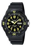 ขาย Casio นาฬิกาข้อมือผู้ชาย สีดำ เหลือง สายเรซิ่น รุ่น Mrw 200H 9Bvdf แพร่