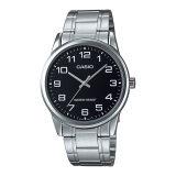 Casio นาฬิกาข้อมือผู้ชายระบบเข็ม สีเงิน ดำ รุ่น Mtp V001D 1Budf Silver ใหม่ล่าสุด