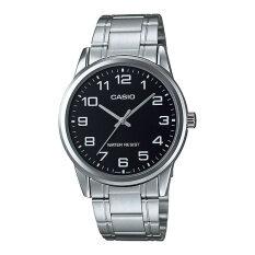 ราคา Casio นาฬิกาข้อมือผู้ชายระบบเข็ม สีเงิน ดำ รุ่น Mtp V001D 1Budf Silver