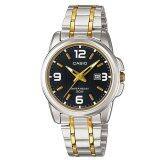 ซื้อ Casio นาฬิกาข้อมือผู้หญิง สายสแตนเลส รุ่น Ltp 1314Sg 1Avdf สีเงิน ทอง ดำ Casio ถูก
