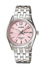 ราคา Casio นาฬิกาข้อมือผู้หญิง สายสแตนเลส รุ่น Ltp 1335D 5Avdf สีเงิน ชมพู ใหม่