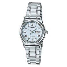 ราคา Casio นาฬิกาข้อมือผู้หญิง สายสแตนเลส สีเงิน รุ่น Ltp V006D 2B Silver ใน ไทย