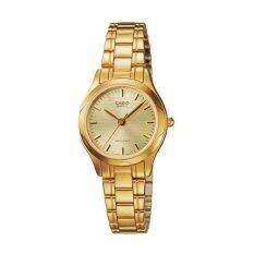 ราคา Casio นาฬิกาข้อมือผู้หญิงระบบเข็ม สีทอง รุ่น Ltp 1275G 9Adf Gold ราคาถูกที่สุด