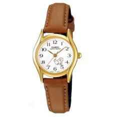 ซื้อ Casio นาฬิกาข้อมือผู้หญิงสาย สายหนังสีน้ำตาล รุ่น Ltp 1094Q 7B7 Gold Brown ประกัน Cmg ใหม่