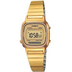 Casio นาฬิกาข้อมือผู้หญิงสาย สแตนเลสสีทอง รุ่น La 670Wga 9D Gold ประกัน Cmg เป็นต้นฉบับ
