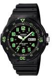 ซื้อ Casio นาฬิกาข้อมือ รุ่น Mrw 200H 3Bvdf Black Green Casio ถูก