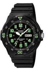 Casio นาฬิกาข้อมือ รุ่น Mrw 200H 3Bvdf Black Green แพร่