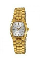 Casio นาฬิกาข้อมือผู้หญิง Stainless Strap รุ่น Ltp1169N 7Ardf สีทอง หน้าปัดขาว ถูก