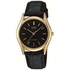 ขาย Casio Standard นาฬิกาข้อมือผู้ชาย สีดำ สายหนังสีดำ รุ่น Mtp 1094Q 1A ถูก ไทย