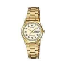Casio Standard นาฬิกาข้อมือผู้หญิง สายแสตนเลส รุ่น Ltp V006G 9Budf Gold เป็นต้นฉบับ