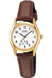 ซื้อ Casio นาฬิกาข้อมือผู้หญิง สายหนัง รุ่น Ltp 1094Q 7B6Rdf Brown White แพร่