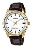 ซื้อ Casio นาฬิกาข้อมือ สายหนัง รุ่น Mtp V005Gl 7Audf Brown แพร่