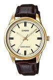 ขาย Casio นาฬิกาข้อมือ สายหนัง รุ่น Mtp V005Gl 9Audf Brown Casio ถูก