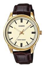 ทบทวน ที่สุด Casio นาฬิกาข้อมือ สายหนัง รุ่น Mtp V005Gl 9Audf Brown