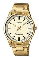 ราคา Casio นาฬิกาข้อมือ สายสแตนเลส รุ่น Mtp V005G 9Audf Gold ใหม่