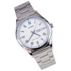 ราคา Casio Standard นาฬิกาข้อมือสุภาพบุรุษ สายสแตนเลส รุ่น Mtp V006D 7Budf สีขาว ออนไลน์