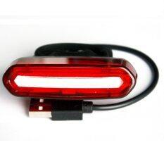 CATEC ไฟท้ายจักรยาน ไฟกระพริบ แบบชาร์ตได้ สามารถสลับได้ 2 สี (สีแดง-สีขาว)