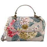 ซื้อ Cath Kidston Matt Oilcloth Mini Turnlock Handbag Crossbody Bag Hydrangea Colour Oat 556415 ออนไลน์ ถูก
