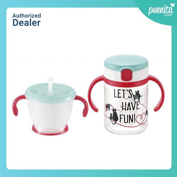 รีวิว Richell Aqulea - Straw Bottle Mug Set ชุดถ้วยหัดดื่ม [Punnita Authorized Dealer]