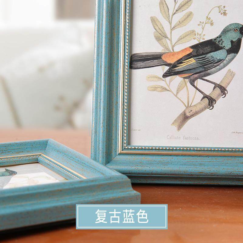Frame Tabletop American Vintage Creative Wall with Print European Style Seven Combination Photo Frame And Printing Photo Frame