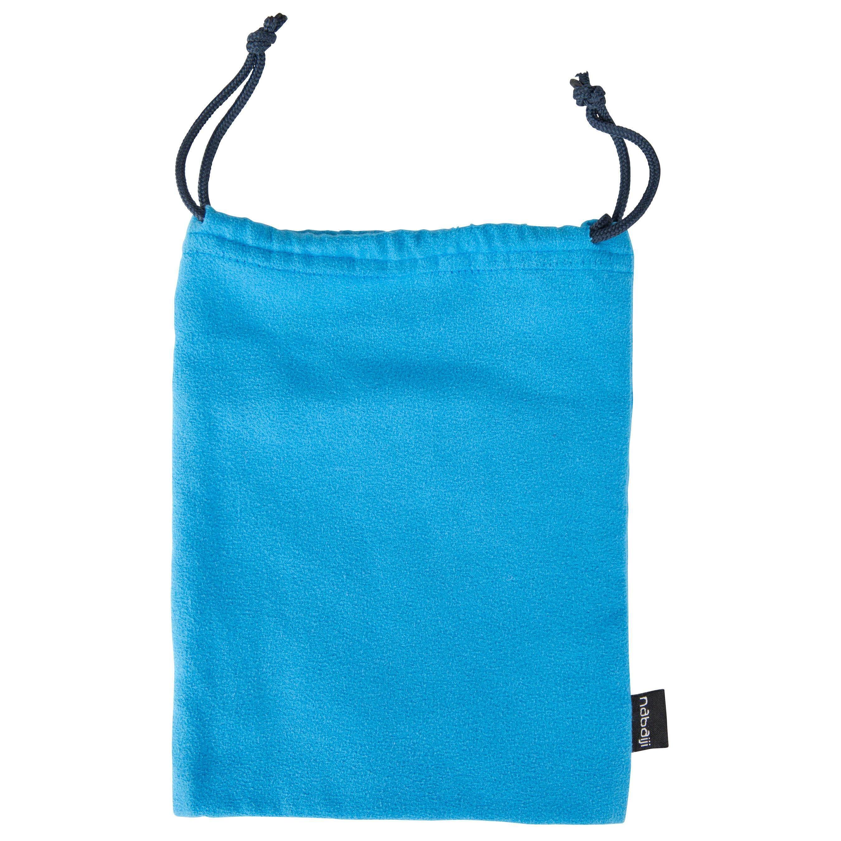 [ราคาดี ราคาถูก!!]ถุงผ้าใส่แว่นตาว่ายน้ำรุ่น 100 (สีฟ้า)