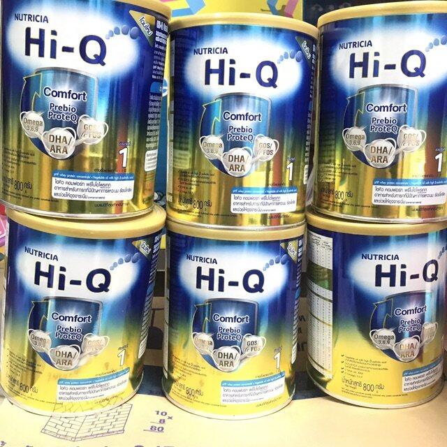 Hi-Q Comfort คอมฟอร์ท อาหารสำหรับทารกที่มีปัญหาการแหวะนม ร้องโคลิคและให้อุจจาระนิ่ม สำหรับช่วงวัยที่ 1 ขนาด 800 กรัม (3 กระป๋อง)