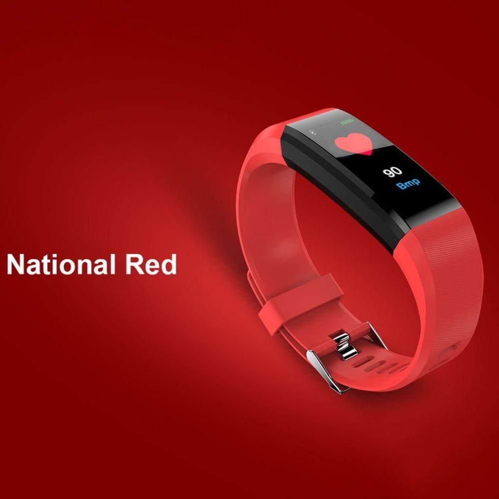 Id115 Plus Heart Rate Monitor สายรัดข้อมืออัจฉริยะ รองรับ Ios & Android สายรัดข้อมือเพื่อสุขภาพนาฬิกาออกกำลังกาย นาฬิกาวิ่ง นาฬิกาวัดหัวใจ นาฬิกาสมาทวอช นาฬิกานับก้าว นาฬิกาใส่วิ่ง นาฬิกาออกกําลังกาย ราคาถูก.
