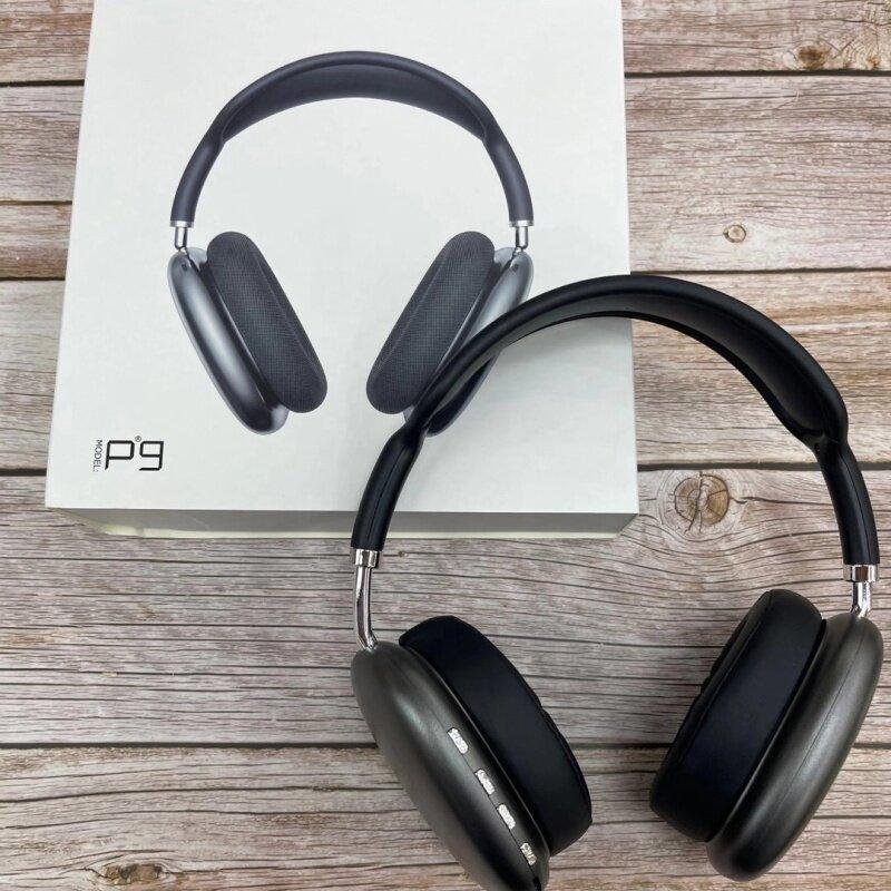 P9 Max ชุดหูฟังหูฟังบลูทูธหูฟังไร้สาย BT Wireless Over-Ear Headphones Noise Cancelling [in stock] Gaming Headset หูฟังไร้สายตัดเสียงรบกวน