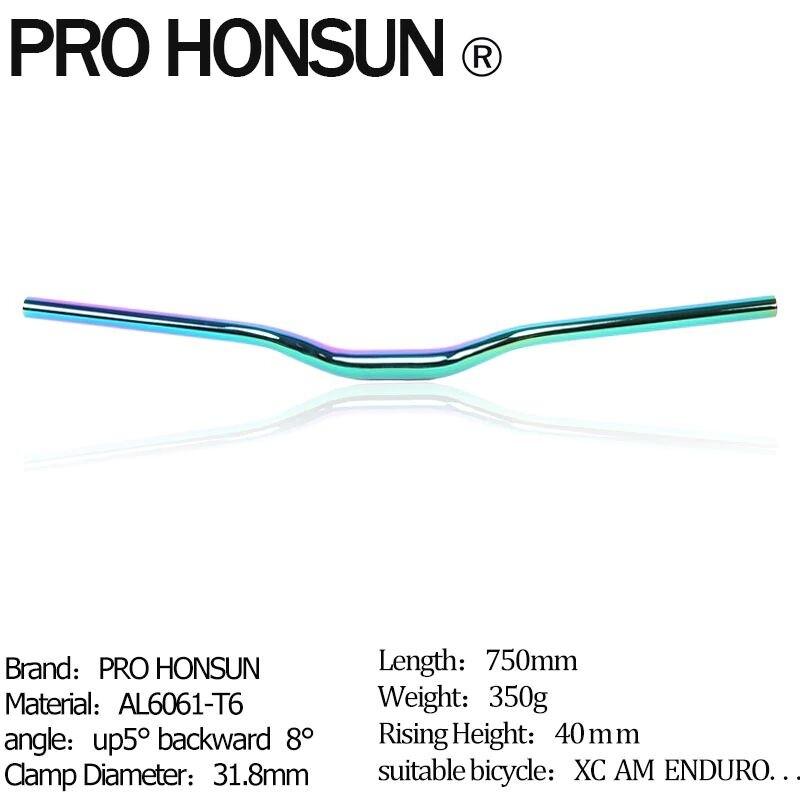 แฮนด์จักรยานเสือภูเขา Pro Honsun สีรุ้ง (multicolor).