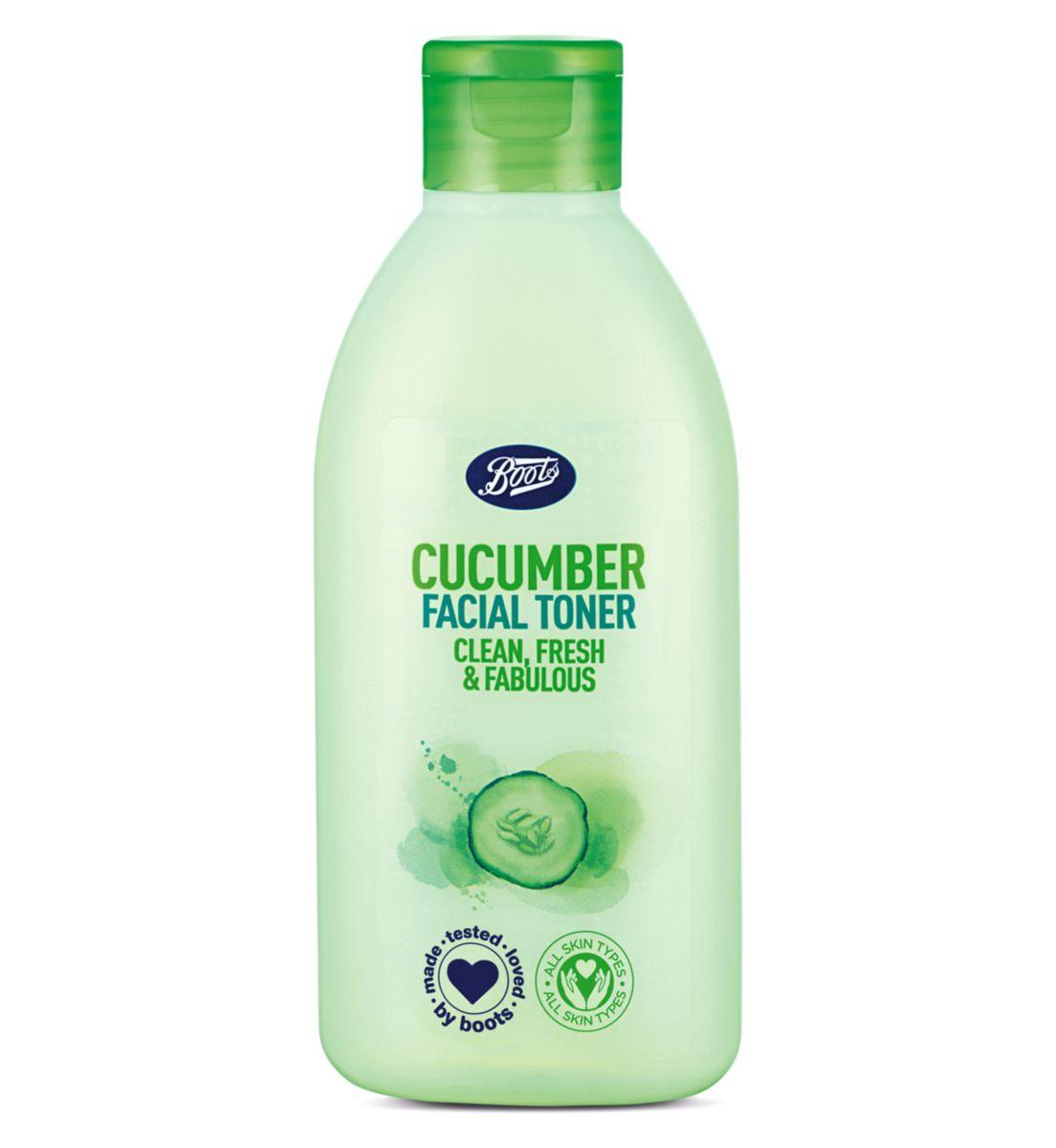 Boots Cucumber Facial Toner บู๊ทส์ คิวคัมเบอร์ เฟเชี่ยล โทนเนอร์ (150 Ml) สินค้าของแท้จากช็อป.
