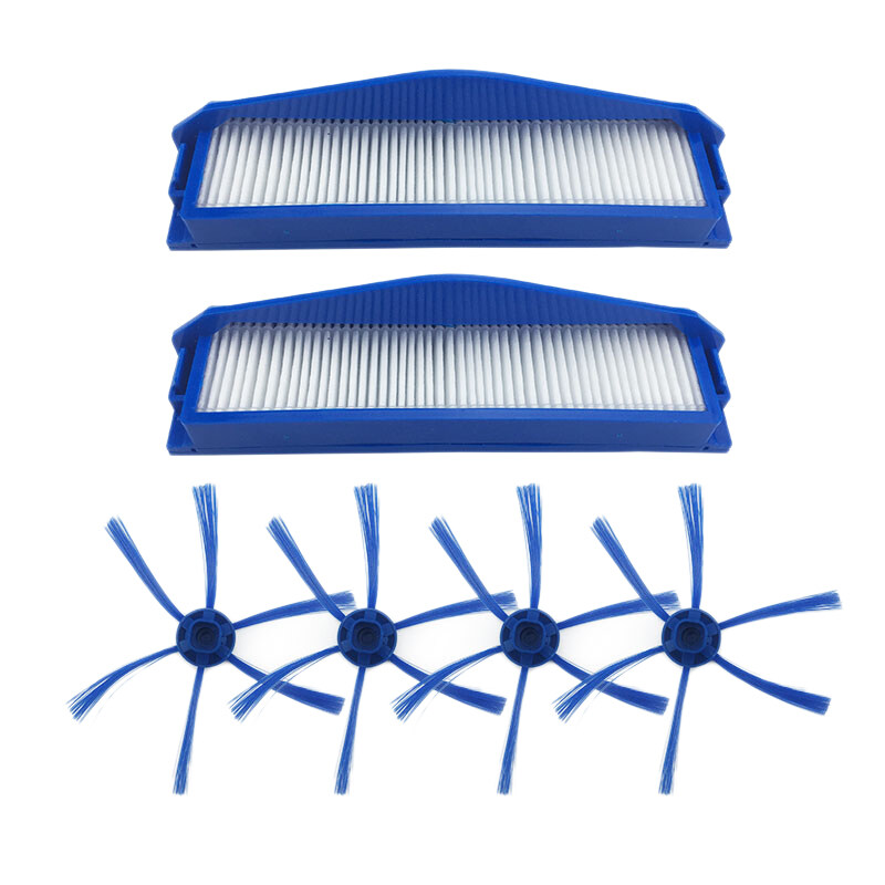 6-Armed Side Brushes Filter Vacuum Cleaner Parts for Philips FC8796 FC8794 FC8792