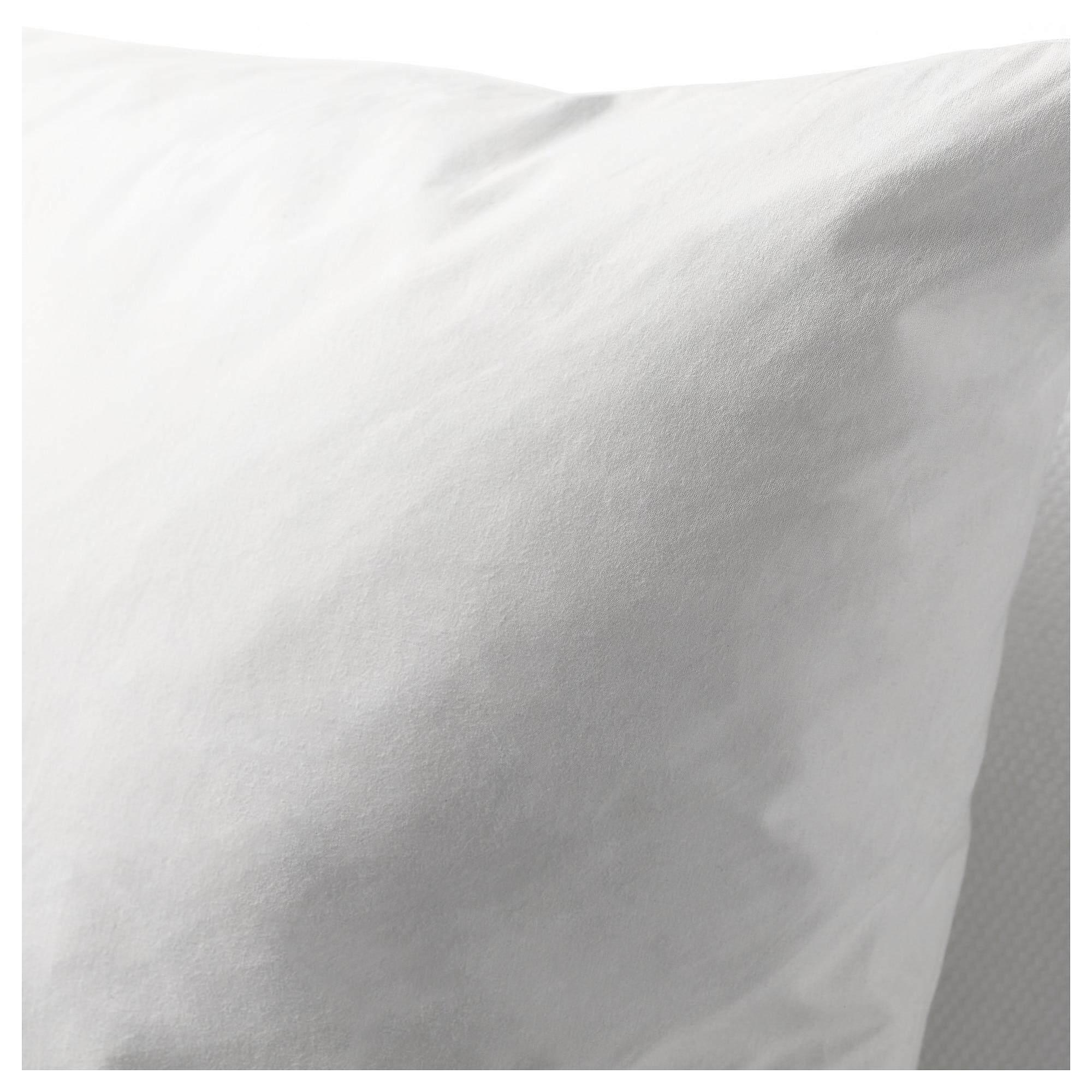ราคาพิเศษ FjÄdrar ฟแยร์ดรา ไส้หมอนอิง ขาว หมอนขนเป็ด (ขนปีก) ฟูนุ่มและยืดหยุ่น คืนรูปได้ดีหมอนอิงใบใหญ่ รองรับสรีระได้เต็มที่ จาก Ikea.
